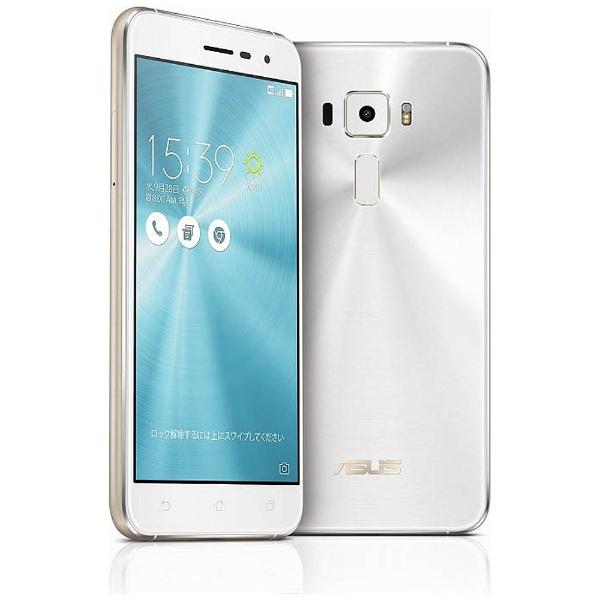 【送料無料】 ASUS エイスース 【10%OFFクーポン 10/10 00:00~10/11 01:59】ZenFone3 Series パールホワイト 「ZE520KL-WH32S3」 Snapdragon 625 5.2型・メモリ/ストレージ:3GB/32GB microSIM×1、nano×1 ドコモ/au/ソフトバック/YmobileSIM対応 SIMフリー