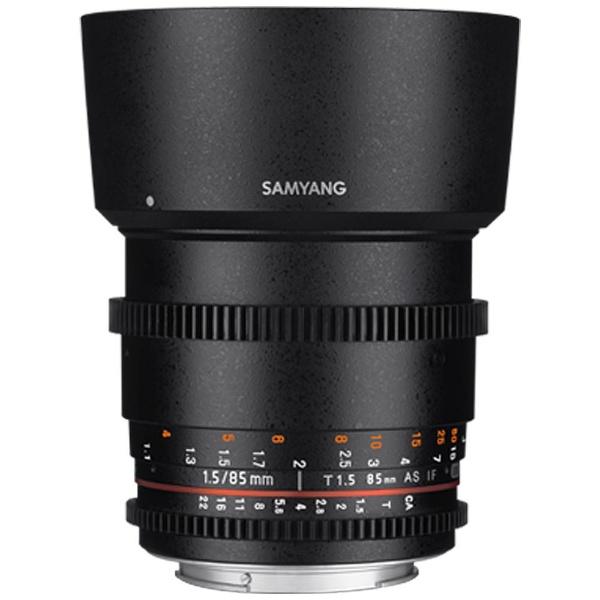 【送料無料】 SAMYANG カメラレンズ CINE 85mm T1.5 VDSLR AS IF UMCII【キヤノンEFマウント】