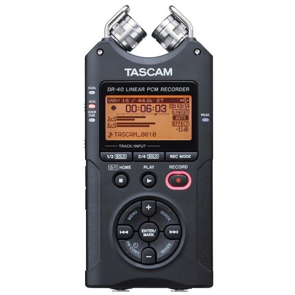 【送料無料】 TASCAM 【ハイレゾ音源対応】リニアPCMレコーダー DR-40 VER2-J