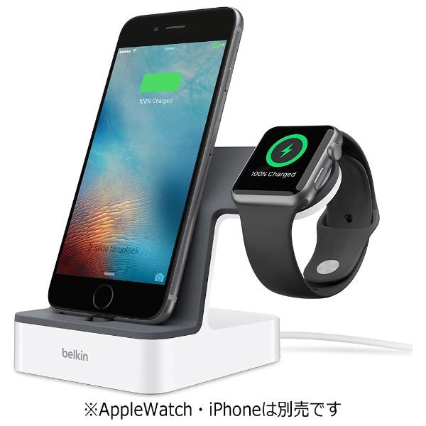 【送料無料】 BELKIN Valet Charge Dock for Apple Watch + iPhone F8J200QEWHT ホワイト[F8J200QEWHT]