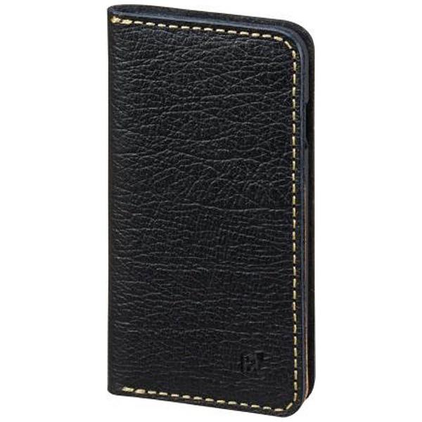 【送料無料】 サンクレスト iPhone 7用 手帳型 BZGLAM バッファローレザーカバー ブラック iP7-BZ06