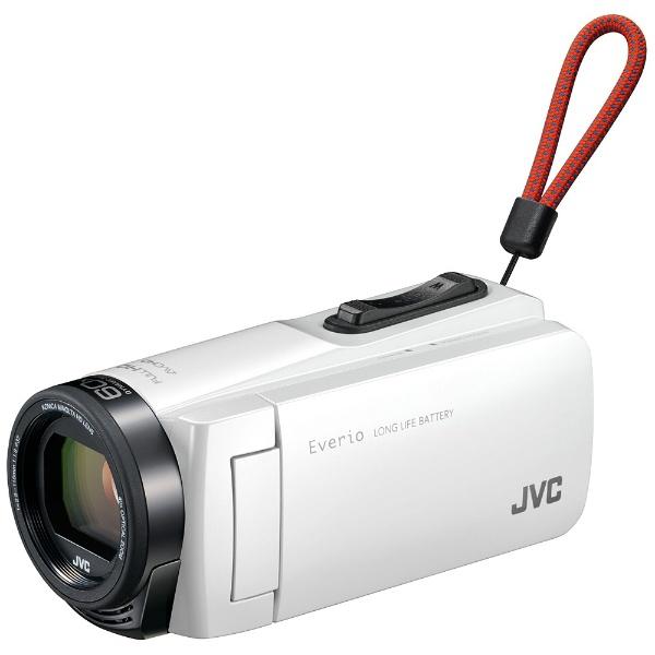 【送料無料】 JVC ジェイブイシー SD対応 32GBメモリー内蔵フルハイビジョンビデオカメラ(ホワイト) GZ-F270-W[GZF270]