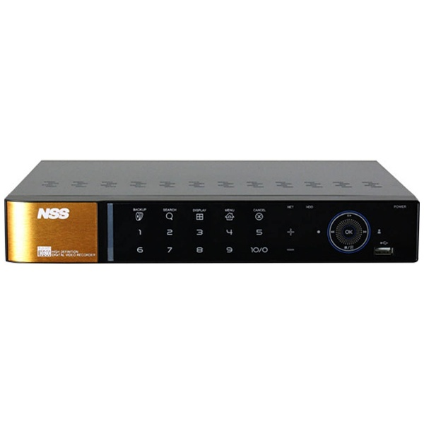 【送料無料】 NSS 監視カメラ用ハードディスクレコーダー 「4chスタンドアローンAHD2.0/TVIハイブリッドDVR(2TB)」 NSD5004AHD-H