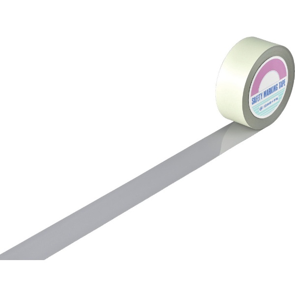【送料無料】 日本緑十字 緑十字 ガードテープ(ラインテープ) グレー 50mm幅×100m 屋内用 148069《※画像はイメージです。実際の商品とは異なります》