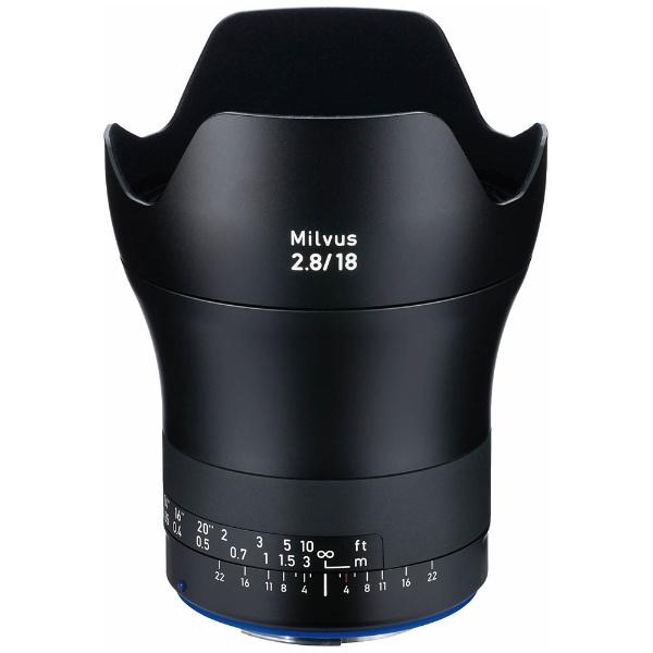 【送料無料】 カールツァイス カメラレンズ MILVUS(ミルバス) 2.8/18 ZE【キヤノンEFマウント】