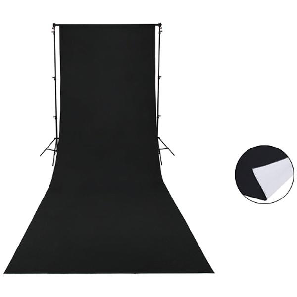 【送料無料】 サンテック マルチ背景布01 ブラック/ホワイト