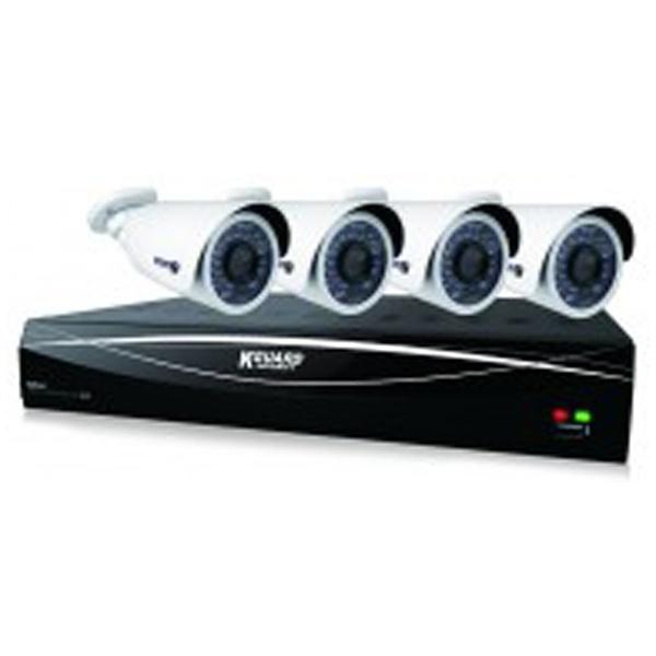 【送料無料】 KGUARD 【屋内用】8チャンネルDVR+カメラ4台セット HD881-4WA813F