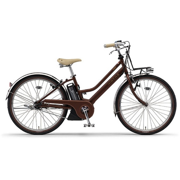 【送料無料】 ヤマハ YAMAHA 26型 電動アシスト自転車 PAS Mina(シルキーブロンズ/内装3段変速) PA26M【2017年モデル】【組立商品につき返品不可】 【代金引換配送不可】
