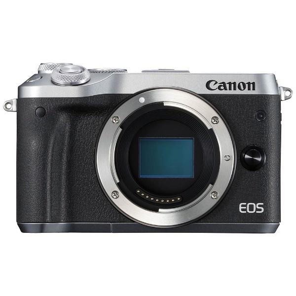 【送料無料】 キヤノン CANON EOS M6【ボディ(レンズ別売)】(シルバー/ミラーレス一眼カメラ)
