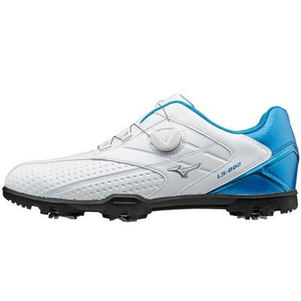 【送料無料】 ミズノ メンズ ゴルフシューズ LIGHT STYLE 002 Boa(24.5cm/ホワイト×ブルー) 51GM176027