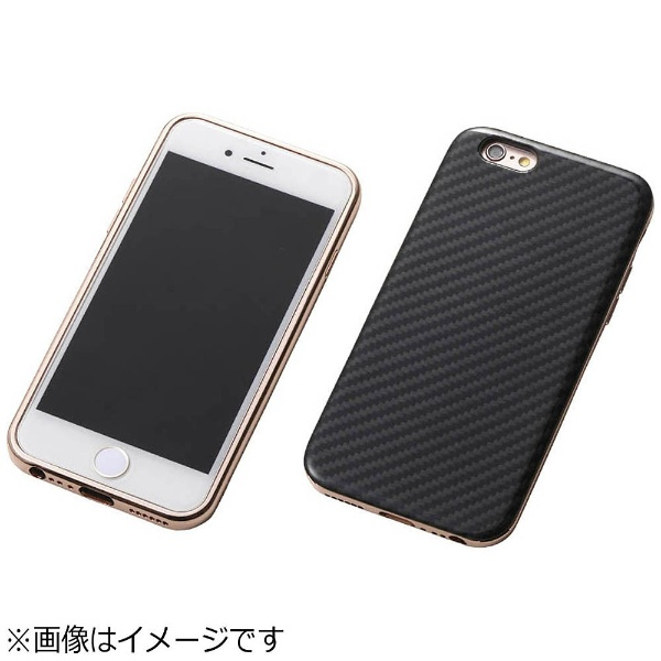 【送料無料】 DEFF iPhone 6s/6用 Hybrid Case UNIO Kevler Black ケブラーブラック+アルミローズゴールド DCS-IP6SAKVRG[s-ksale]