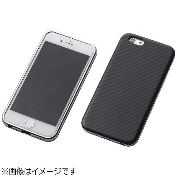 【送料無料】 DEFF iPhone 6s/6用 Hybrid Case UNIO Kevler Black ケブラーブラック+アルミシルバー DCS-IP6SAKVSV[s-ksale]