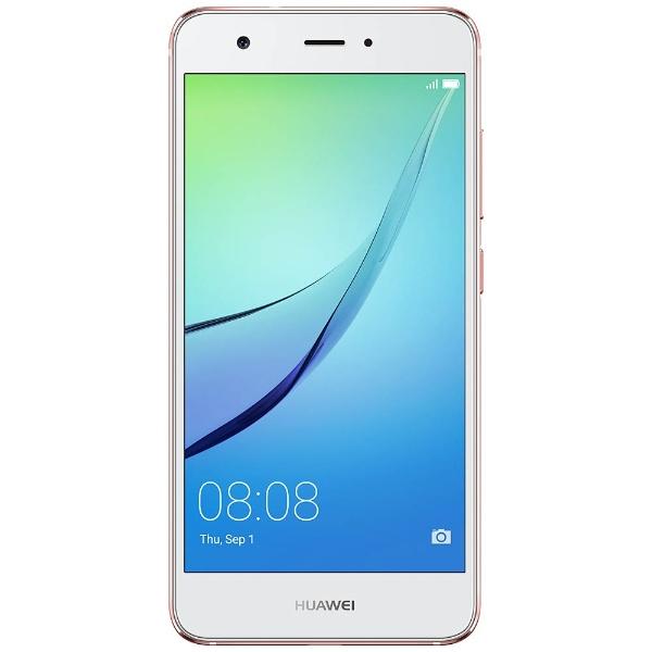 【送料無料】 HUAWEI ファーウェイ nova Rose Gold「nova/Rose Gold」 Snapdragon 62 5.0型・メモリ/ストレージ:3GB/32GB nano×2 Ymobile/ドコモ /au SIM対応 SIMフリースマートフォン[NOVAROSEGOLD]