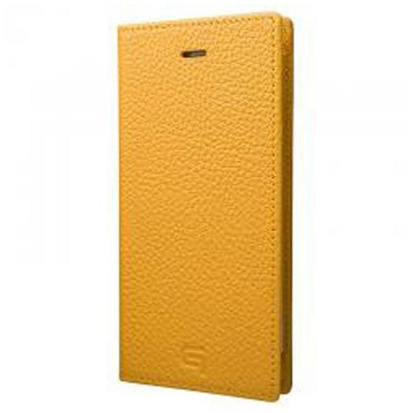 【送料無料】 坂本ラヂヲ iPhone 7用 手帳型レザーケース GRAMAS Shrunken-calf Full Leather Case イエロー GLC646YL
