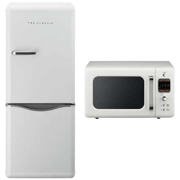 【標準設置費込み】 DAEWOO 【東日本専用:50Hz】 THE CLASSIC 冷蔵庫・レンジセットW