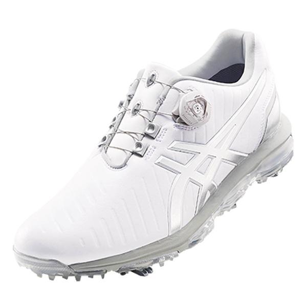 【送料無料】 アシックス メンズ ゴルフシューズ GEL-ACE PRO 3 Boa(28.0cm/ホワイト×シルバー) TGN919_0193