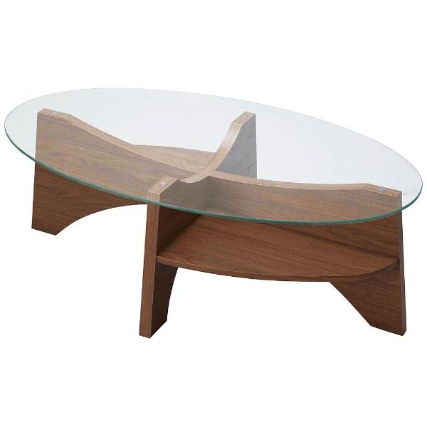 【送料無料】 東谷 オーバルテーブル LE-454WAL(W105×D60×H36cm)