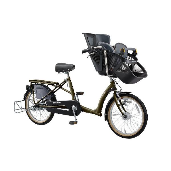 【送料無料】 丸石サイクル 20型 自転車 ふらっか~ずシュシュ(ダークオリーブ/内装3段変速) FRCH203W【組立商品につき返品不可】 【代金引換配送不可】