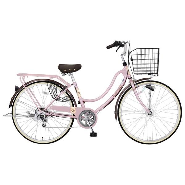 【送料無料】 MARUKIN 26型 自転車 フロートミックス266-I(ピンク/外装6段変速) MK-16-014【組立商品につき返品不可】 【代金引換配送不可】【メーカー直送・代金引換不可・時間指定・返品不可】
