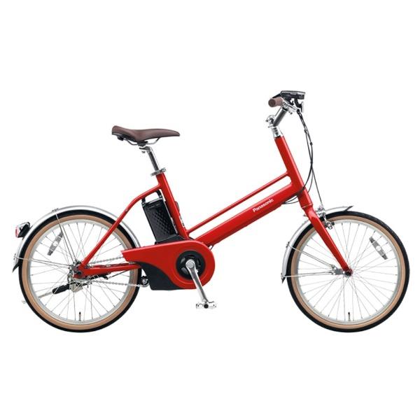 【送料無料】 パナソニック Panasonic 20型 電動アシスト自転車 Jコンセプト(レッドリーブス/シングルシフト) BE-JELJ01R【2017年モデル】【組立商品につき返品不可】 【代金引換配送不可】