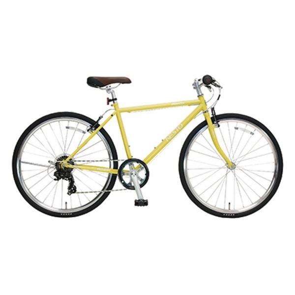 【送料無料】 NESTO 26型 クロスバイク VACANZE S(マットイエロー/430サイズ《適応身長:150cm以上》) NE-17-006【組立商品につき返品不可】 【代金引換配送不可】【メーカー直送・代金引換不可・時間指定・返品不可】