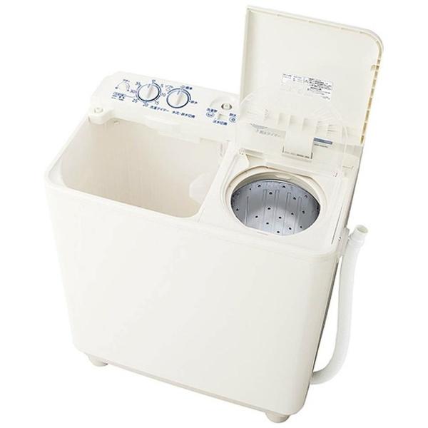 【標準設置費込み】 AQUA アクア AQW-N451-W 2槽式洗濯機 ホワイト [洗濯4.5kg /乾燥機能無 /上開き]