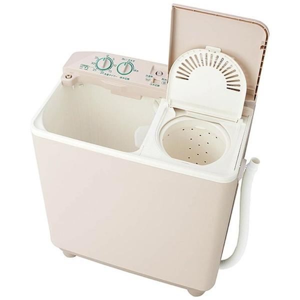 【標準設置費込み】 AQUA アクア AQW-N351-HS 2槽式洗濯機 ソフトグレー [洗濯3.5kg /乾燥機能無 /上開き]