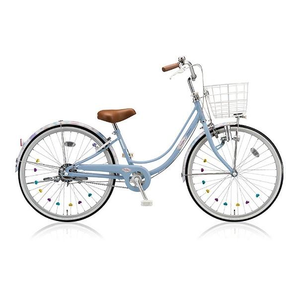 【送料無料】 ブリヂストン 24型 子供用自転車 リコリーナ(E.Xカームブルー/シングルシフト) RC40【2017年モデル】【組立商品につき返品不可】 【代金引換配送不可】