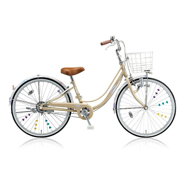 【送料無料】 ブリヂストン 26型 子供用自転車 リコリーナ(E.Xカフェベージュ/シングルシフト) RC60【2017年モデル】【組立商品につき返品不可】 【代金引換配送不可】