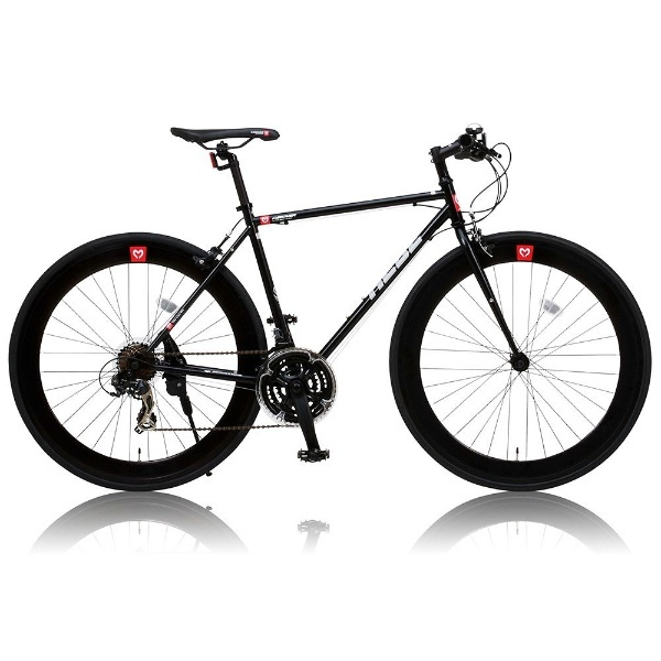 【送料無料】 オオトモ 700×25C型 クロスバイク CANOVER CAC-024 HEEB (ブラック/490サイズ《適応身長:160cm以上》) 25586【組立商品につき返品不可】 【代金引換配送不可】