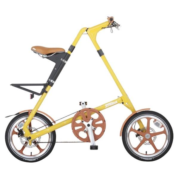 【送料無料】 STRIDA 16型 折りたたみ自転車 STRIDA LT(オリーブイエロー/シングルシフト) 34964【組立商品につき返品不可】 【代金引換配送不可】