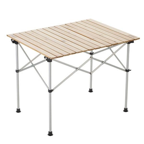 【送料無料】 コールマン 収束式テーブル ナチュラルウッドロールテーブル 90 2000031290【2~4人用】