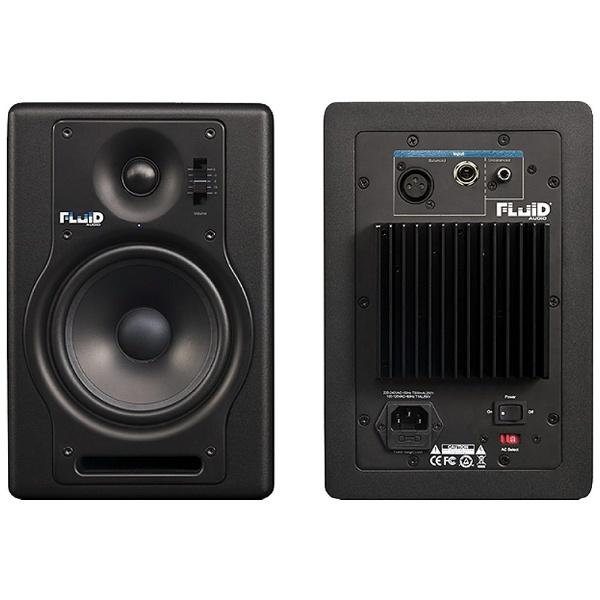 【送料無料】 FLUIDAUDIO 【Fluid Audio】パワードモニタースピーカー(2本/ブラック) FADER SERIES F5