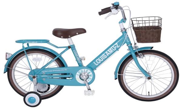 【送料無料】 タマコシ 18型 幼児用自転車 ルイスアミューズキッズ18(ターコイズブルー/シングル)【組立商品につき返品不可】 【代金引換配送不可】