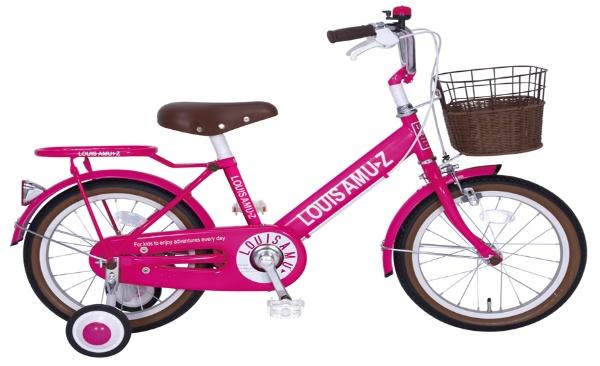 【送料無料】 タマコシ 16型 幼児用自転車 ルイスアミューズキッズ16(ピンク/シングル)【組立商品につき返品不可】 【代金引換配送不可】
