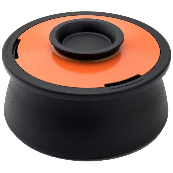 【送料無料】 穴織カーボン ≪IH対応≫ カーボン製両手鍋 「POT VOL.」(2.1L) VO001SO スパニッシュオレンジ
