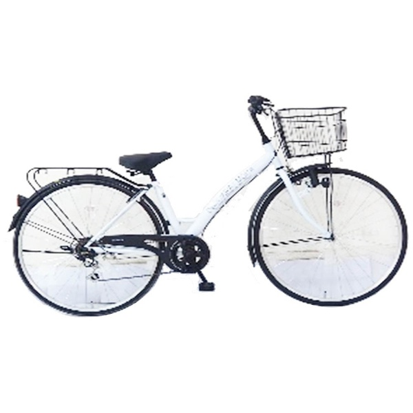 【送料無料】 サイモト自転車 27型 自転車 ダカラットモダ276(ホワイト/6段変速) CA-B276B【2017年モデル】【組立商品につき返品不可】 【代金引換配送不可】【メーカー直送・代金引換不可・時間指定・返品不可】