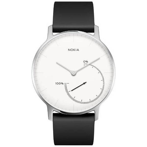 【送料無料】 NOKIA ウェアラブル活動量計(ウォッチタイプ) 「Steel」 HWA01-STEEL-WHITE- (ブラック&ホワイト)[HWA01STEELWHITE]