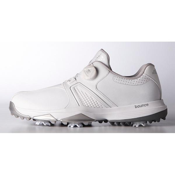 【送料無料】 アディダス adidas メンズゴルフシューズ 360トラクション ボア ワイド(28.0cm/ホワイト×ホワイト×シルバーメタリック/3E) Q44727