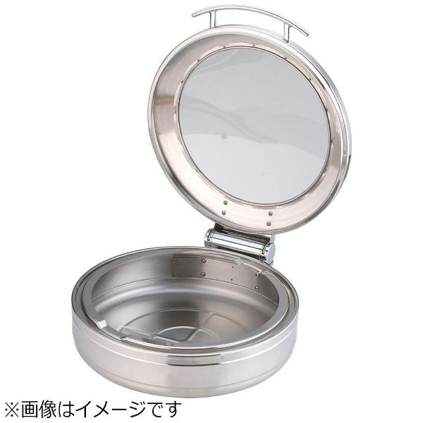 【送料無料】 KINGO ロイヤル丸チェーフィング フードパン無 ガラスカバー式 大 <NKV5001>