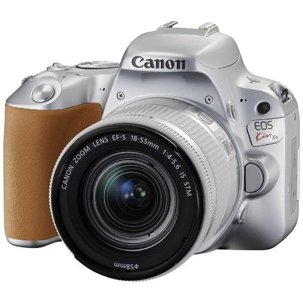 【送料無料】 キヤノン CANON 【10%OFFクーポン 8/4 18:00 ~ 8/5 23:59】EOS Kiss X9(W)【EF-S18-55 IS STM レンズキット】(シルバー/デジタル一眼レフカメラ)[KISSX9SL1855F4ISSTML]