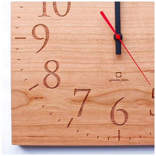【送料無料】 ヤマト工芸 掛け時計 「Muku -スタンダード数字-」 YK14-101-SCR (チェリー)