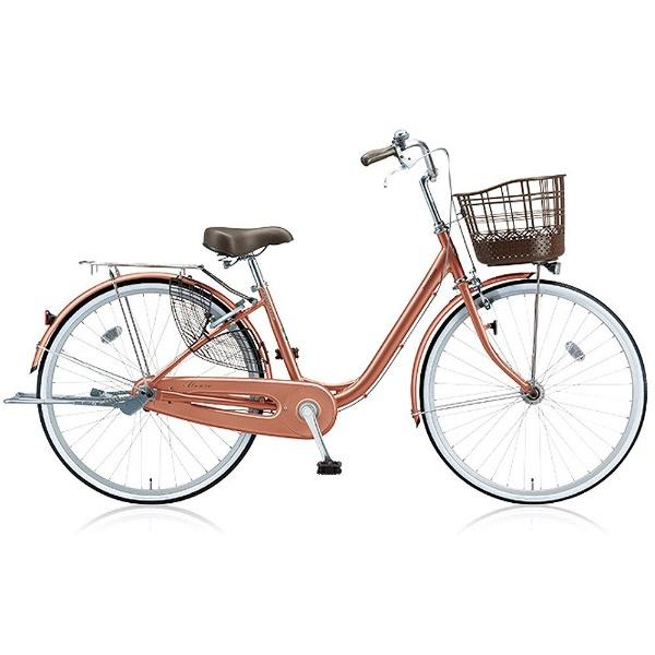 【送料無料】 ブリヂストン 26型 自転車 アルミーユ(M.Xピンクゴールド/3段変速) AU63T【2017年/点灯虫モデル】【組立商品につき返品不可】 【代金引換配送不可】