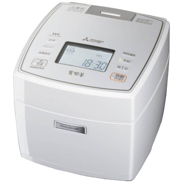 【送料無料】 三菱 Mitsubishi Electric IH炊飯ジャー 「炭炊釜」(5.5合) NJ-VX108-W ピュアホワイト[NJVX108]