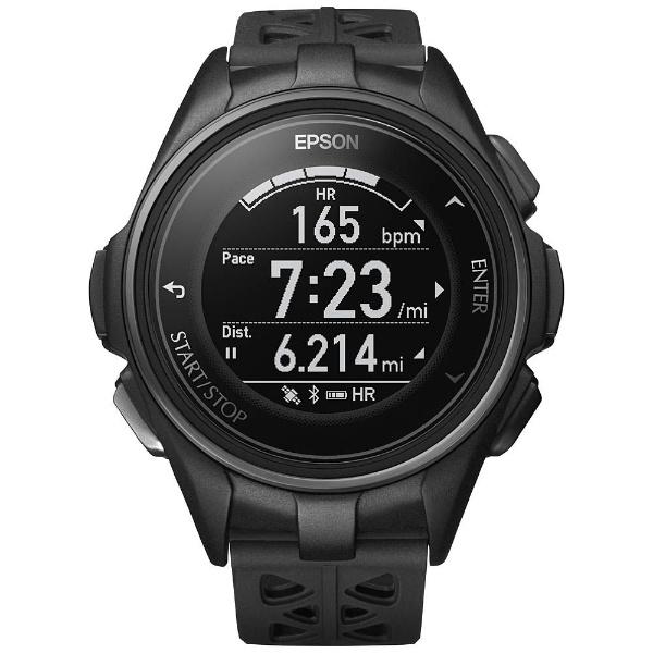 【送料無料】 エプソン EPSON GPSランニングウオッチ 「WristableGPS」 J-300B ブラック