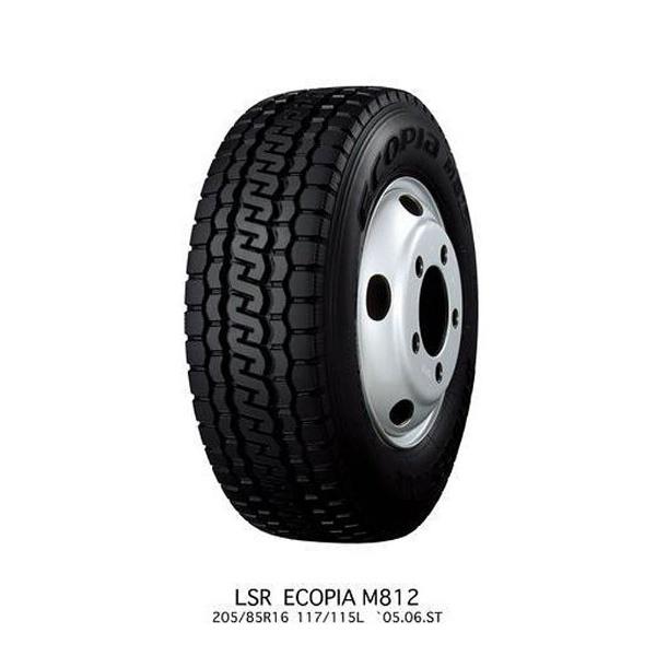 【送料無料】 ブリヂストン 205/85R16 117L 小型・中型トラック用オールシーズンタイヤ ECOPIA M812