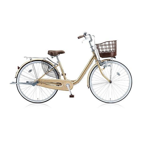 【送料無料】 ブリヂストン 24型 自転車 アルミーユ(M.Xプレシャスベージュ/シングル) AU40【2017年モデル】【組立商品につき返品不可】 【代金引換配送不可】