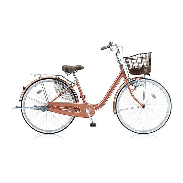 【送料無料】 ブリヂストン 26型 自転車 アルミーユ(M.Xピンクゴールド/シングル) AU60【2017年モデル】【組立商品につき返品不可】 【代金引換配送不可】