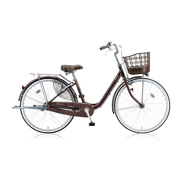 【送料無料】 ブリヂストン 24型 自転車 アルミーユ(F.カラメルブラウン/シングル) AU40T【2017年/点灯虫モデル】【組立商品につき返品不可】 【代金引換配送不可】