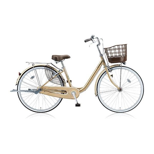 【送料無料】 ブリヂストン 24型 自転車 アルミーユ(M.Xプレシャスベージュ/3段変速) AU43T【2017年/点灯虫モデル】【組立商品につき返品不可】 【代金引換配送不可】